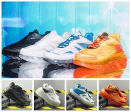 leather lined running shoes Rabatt 2019 Triple S startet Linie Erhöhte Designer 53045 Triple-S Männer Frauen Leder Tripler orange Turnschuhe Weiß Sport Laufschuhe 36-45