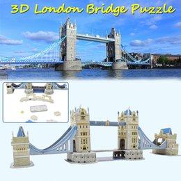 2019 ponte giocattolo 3D London Bridge Puzzle Giocattoli per bambini Adulti Assemblaggio fai da te Kit modello di edificio Giocattoli per bambini Migliora l'abilità cognitiva Regali creativi ponte giocattolo economici