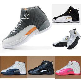 scatola di taxi Sconti Nike jordon 12 basketball shoes Uomo e donna Scarpe da basket Sneakers 12S XII Flu Gioco Royal Taxi Francese blu per uomo Scarpe sportive Taglio alto