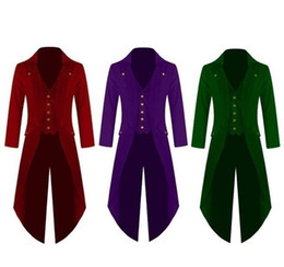 Gothic Frack Mantel Kostüm Outwear Uniform Festival Jacke