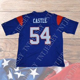Cheap custom Thad Castle Football Jersey  54 Blue Mountain State Goats Movie  Blue Stitched Customize any number name MEN WOMEN YOUTH XS-5XL 1bd2467b4