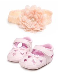 Canada Nouveau-né mignon bébé fille chaussures princesse chaussures pour bébé + bandeaux bébé dentelle florale Toddler Sandals Offre