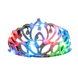 LED leuchten Halloween Krone - blinkende Strass Halloween Tiara Stirnband Cosplay LED Prinzessin Tiara für Frauen von Fabrikanten
