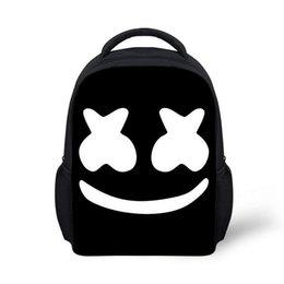 2019 bolsos de hombro de las niñas Mochila Marshmello Niños Niños Niñas Casco Bolsas de Escuela Junior de viaje Bolsa de hombro rugzak Niños Mochila Mochila escolar bolsos de hombro de las niñas baratos