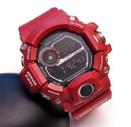 Termómetro digital automático online-G reloj deportivo para hombre Reloj luces automáticas termómetro solar brújula todo funciona trabajo reloj deportivo con caja manual buen regalo para el hombre