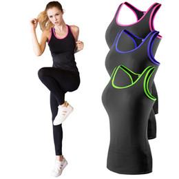 Camisa de yoga Sport Running Chaleco de Las Mujeres de Compresión Sin Mangas de secado rápido Fitness Tank Top Deportes al aire libre GIMNASIO ropa desde fabricantes