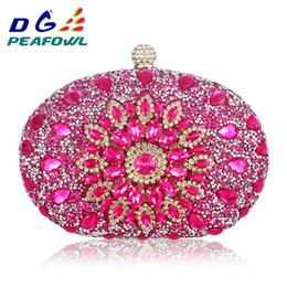 Designer-handy-kupplung online-Luxus Clutch Chain Bag Frau Hochzeit Diamant Kristall Floral Blau Rot Sling Designer Geldbörse Handytasche Brieftasche Handtaschen Y19051702