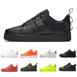 formateurs classiques Promotion nike air force 1 forces shoes Dunk Cheap 1 Utility Classic Black White Men Women Casual Shoes red Orange Sports Skateboarding High Low Cut Wheat Trainers Sneakers 36-45