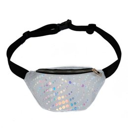 Смешные пакеты онлайн-2019 Newest Style Glitter Bag Funny Pack Fashion Women Streetwear Waist Bag Travel Money Wallet Belt