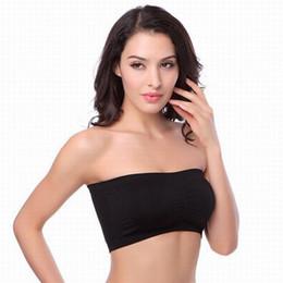 bandeau top sport Rebajas Sexy mujeres boob tube top Strapless Boob Tube Top Bandeau Bra ropa interior Yoga Sport Tops Big promation 600 unids LJJA2672