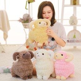 Plüschtiere lämmer online-Nettes kleines Lamm-Plüschtier simulierte Wolle-Vlies-Plüschtier-entzückende Schaf-Puppen-kreative Geschenke für Kind 30yn2 O1