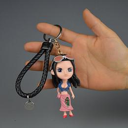 Presente de aniversário de uma peça on-line-IVYYE 1PCS One Piece Meninas Anime Action Figure Chaveiro PVC Figuras Presentes Keyring de Brinquedos Keychain Keyholder Unisex aniversário NOVO