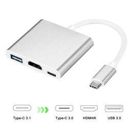 hdmi usb c Rabatt 4K USB-C Digitaler AV-Multiport-Adapter USB 3.1 Typ C auf HDMI-Adapter 4K HUB USB für NEUES MacBook Chromebook Pixel