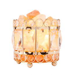 2019 lâmpadas de base de cristal Cristal Natural do Himalaia Sal Natural Himalaia Crystal Salt Lâmpada com Base de Metal Controlador Dimmer Dimmer Interruptor UL-Listado Cord Balde lâmpadas de base de cristal barato