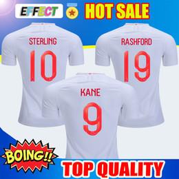 Camisetas de futbol de inglaterra online-Camisetas de fútbol de Tailandia de la Copa Mundial de Fútbol 2018 de Inglaterra 9 # KANE 10 # ESTERLINES 11 # VARDY 19 # RASHFORD 20 # DELE 2019 Camisetas