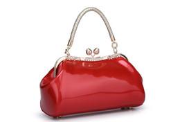 bolsas casuales de oficina cruz Rebajas bolsos women bolso de trabajo de patente del diseñador del bolso de cuero damas de oficinas de lujo rojo de la boda de Boston del totalizador del embrague C856