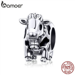 cow glasses Promo Codes - Pandora Style Animal Collection 925 Sterling Silver Cute Cattle Cow Charms Beads fit Original Bracelets Sterling Silver Jewelry C1049