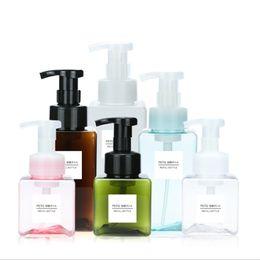 Contenitori di schiuma online-250/450 ml Bottiglia di schiuma di sapone liquido Mousse montata Punti Imbottigliamento Shampoo Lozione Gel doccia Pompa a mano Contenitore per erogatore di schiuma