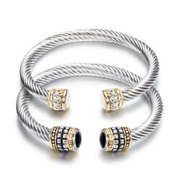 Braccialetti di cristallo del polsino di marca Retro aperto Braccialetti Geometria Feminina per le donne Bijoux Nuovi gioielli moda Braccialetti regalo da bracciale in pelle zircona cubica fornitori