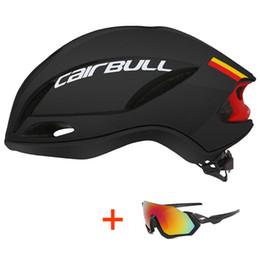 Caschi cicloturistici online-2019 Nuovo casco da bicicletta con i vetri della bici della strada della bici di montagna del casco In-mold Ultralight XC TRAIL MTB Ciclismo