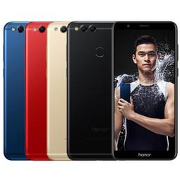 2019 caméra de recul bluetooth android Huawei Honor 7X 4GB 64 / 128GB 8MP + 16MP Double caméras arrière 3340mAh 5.93 pouces 2160 * 1080P Full View Screen Fingerprint promotion caméra de recul bluetooth android