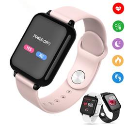 2019 bracelets android Montre intelligente B57 Bracelet Sports imperméables Smartwatches pour iPhone Bracelets Moniteur de fréquence cardiaque Fonctions de la pression artérielle pour femmes hommes enfants