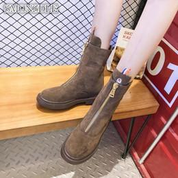 Canada Martin bottes femme 2019 automne et hiver nouvelle version coréenne de la botte de moto étudiant sauvage bottes avant supplier female flat motorcycle boots Offre