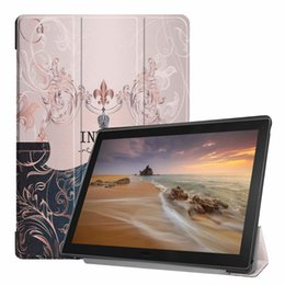books for painting Coupons - Ultra Slim Book Flip Painted PU Leather Case for Lenovo Tab E10 TB-X104 10.1 inch Tablet Sleep Wake