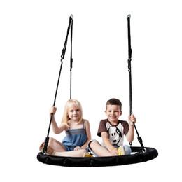 Equipamentos de jogo ao ar livre on-line-Cordas de malha Reticulate Hammock Pássaro Crianças Ninho Rodada cadeira de balanço ao ar livre Jogar Crianças balanço Jardim Playground Equipment