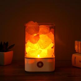 himalayan salzlampen Rabatt USB Crystal Light natürliche Himalaya Salz Lampe Luftreiniger Stimmung Creator Indoor warmes Licht Tischlampe Schlafzimmer Lava Lampe