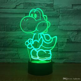 2019 luzes mario LED Mario 3D USB Lamp Jogo dos desenhos animados Presente Figura Super Acrílico Novidade Iluminação do Natal RGB toque Controle Remoto Brinquedos desconto luzes mario