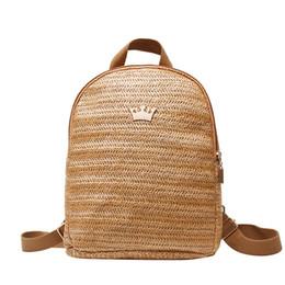 1f23a372d7def 2019 rucksack handgefertigt Handmade Designer Rucksack für Frauen Strand  Lässig Gewebt Strohhalme Rucksack Tasche für Jugendliche