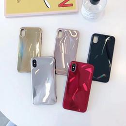 cas de téléphone de forme de pomme Promotion Coque pour téléphone portable Apple X miroir en forme de diamant 6splus en verre pour marée iphone8 / xs max / xr 7p
