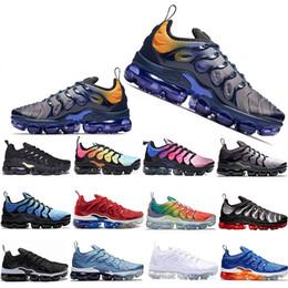 2019 juegos de arcoiris 2019 Nuevo TN Plus Zapatillas de running Hombre Mujer Juego Royal Rainbow blanqueado aqua TRIPLE WHITE BLACK Fades Blue VOLT Trainer Designer Sneakers juegos de arcoiris baratos