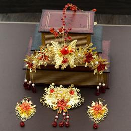 accessori di pettine di capelli vintage Sconti Handmade lunga nappa vintage spose accessori per capelli cinese classica copricapo da sposa gioielli capelli pettini Hairwear JCE068