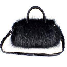 Luxury Handbags Faux Fur Women Tote Bags Evening Clutch Bag Winter Autumn  Warm Plush Handbags Girls Crossbody Bag Messenger Pack 2df837c90a091