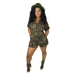 short rompers per le signore Sconti New Camouflage Womens Tute Pagliaccetti Fashion Sashes Manica corta Tuta femminile Sexy Summer Casual Abbigliamento donna