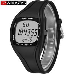 2019 минимализм часы мужчины PANARS мужчины спортивные часы калории хронограф G площадь Черный часы водонепроницаемый шок цифровые наручные часы подарок минималистский дешево минимализм часы мужчины