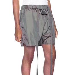 19ss mais recente medo de deus essencial moda verão homens nevoeiro 6th high street calças calças faixa de jogging calções unisex calça casual calções de