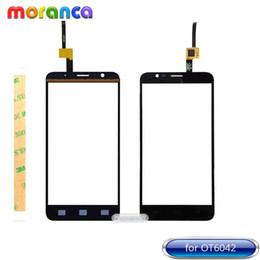 3addaa72226 5,5 '' pour Alcatel One Touch Flash OT6042 OT 6042 6042D OT-6042D Écran  Tactile Digitizer Vitre Tactile Capteur de Verre Noir Blanc + Ruban 3M peu  coûteux ...