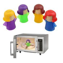 dossier de blanchisserie Promotion Gros Angry Mama Four à micro-ondes Cleaner Four Cleaner Cuisine Gadget Outil Appareils Électroménagers Cuisine Réfrigérateur de nettoyage outils Livraison Gratuite