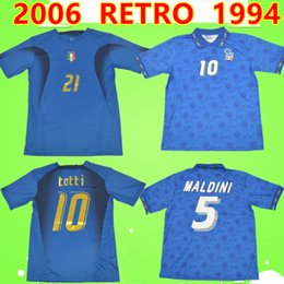 2019 pirlo jersey italy 2XL Retro Itália 1994 2006 aniversário da Copa do Mundo comemorar camisas de futebol 94 06 clássico camisa de futebol do vintage TOTTI R.BAGGIO PIRLO MALDINI pirlo jersey italy barato