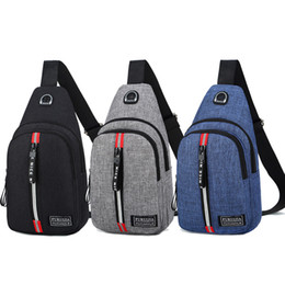 Slings de nylon on-line-Homens Bolsa de ombro Sling Chest Pack Nylon Caminhadas Messenger Sport Crossbody Handbag