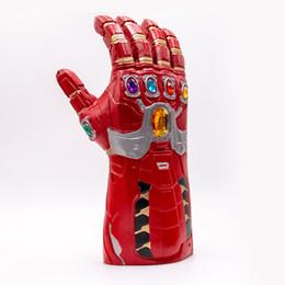 Maschera di halloween del viso del ferro online-la partita finale 4 Superhero iron man Infinity Gauntlet Full Head Helmet maschera in lattice Thanos Halloween Cosplay Puntelli del partito