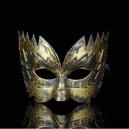 2019 bola de filigrana Soldado romano Masculino Filigrana Corte láser Hombres Máscaras venecianas Máscaras de ojos Fiesta Halloween Cosplay Boda Mardi Gras Ball Máscaras GB1024 bola de filigrana baratos