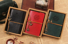 notas da folha Desconto Venda quente de couro do vintage diário de viagem notebook âncora leme decoração folha solta notebook com corda atacado frete grátis