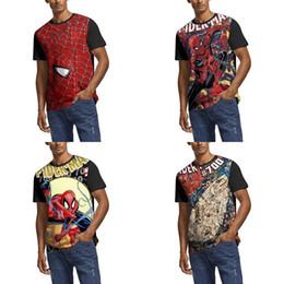 Chemise spiderman blanche en Ligne-Hommes Design Impression Spiderman Blanc T-shirt Faire Des Chemises Coupe ajustée Famille Musiciquement Fête Amazing 2 Universo SpiderMan Spider silk Vol