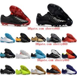 zapatos roma Rebajas Zapatos de fútbol de cuero 2019 Tiempo Legend VII FG zapatos de fútbol para hombre Tiempo Totti X Roma botas de fútbol scarpe calcio nuevo arrval