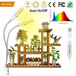 2019 plantas artificiais luzes led Espectro completo LED Artificial Sunlike Cresce a Luz para a Planta Interior 45W, Dual Flexível Gooseneck Lamp Head com a Lâmpada Substituível