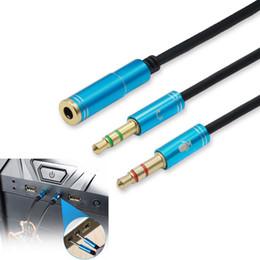 2019 diviseur de câble de micro 3.5mm Femelle à Audio Mic Male Splitter Cable Adapter Converter pour Table PC Cellphone 1ft diviseur de câble de micro pas cher